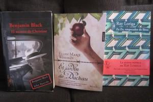 El secreto de Christine de Benjamin Black Za Za, emperador de Ibiza de Ray Loriga El jardín de Dachau de Ellen Marie Wiseman